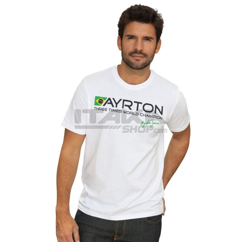 T-SHIRT AYRTON SENNA BRASIL CHAMPION