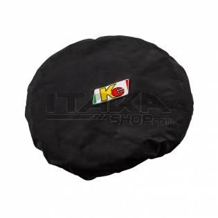 KG BLACK STEERING WHEEL COVER