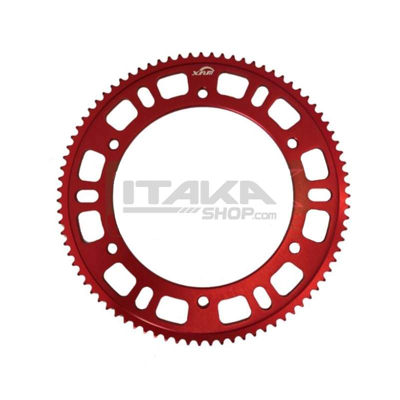 XAM ANODIZED PERFORATED 215 RED SPROCKET