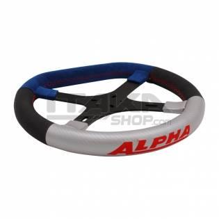 STANDARD ALPHA STEERING WHEEL BLUE/RED 4 SPOKES