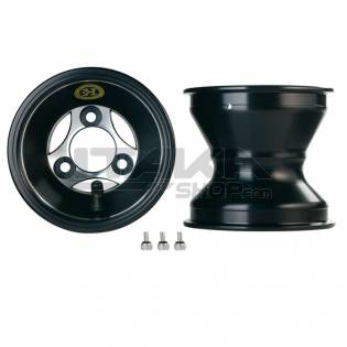 ALU 120 T6 BLACK FRONT WHEEL RIM (HUB)