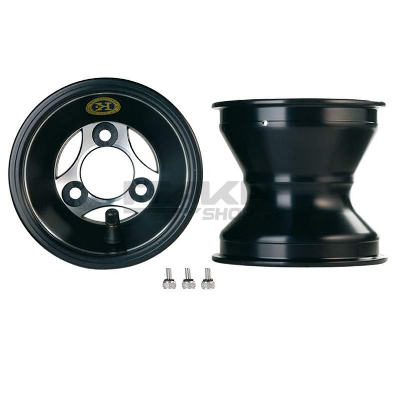 ALU 120 T6 BLACK FRONT WHEEL RIM (HUB)