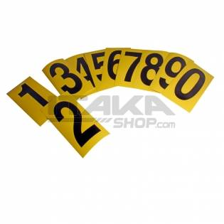 WHITE STICKER FOR AXLE COVER