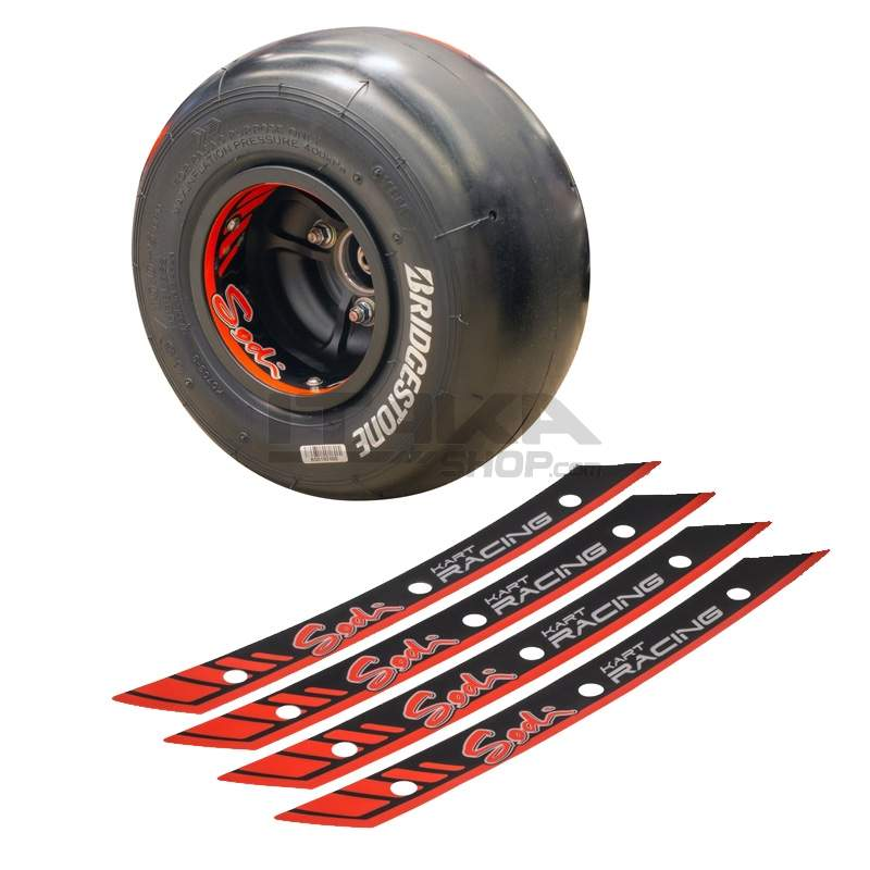 KIT OF 4 SKR WHEEL STICKERS