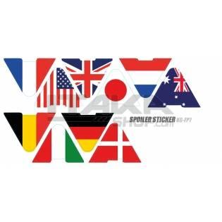 SPOILER STICKER FLAG