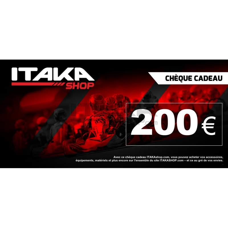 CHEQUE CADEAU 200 EUROS TTC