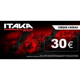 CHEQUE CADEAU 30 EUROS TTC