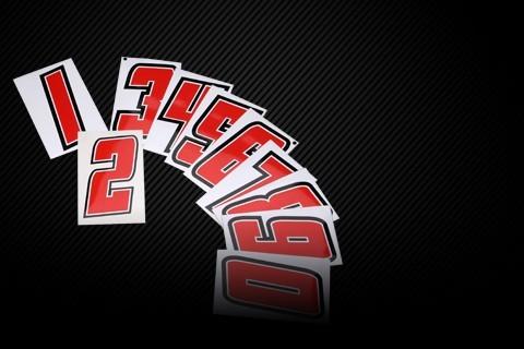 Kart stickers / Kart race numbers