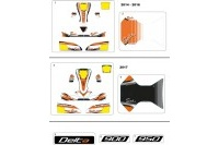 BODYWORK STICKERS - SODI DELTA 900/950 2014 - 2017