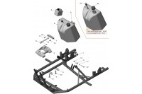 FRAME-FUEL TANK-ENGINE MOUNT - SODI EXPERIA