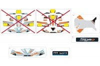 BODYWORK STICKERS - SODI SIGMA S1
