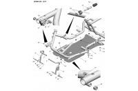 CADRE-PLANCHER-PEDALES - SODI SIGMA RS & R 2015-2017