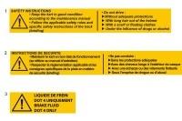 SAFETY STICKERS - SODI SIGMA RS & R