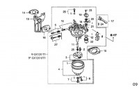 CARBURATEUR - HONDA GX120 QHQ4 MINIKART