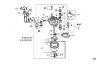 CARBURATOR - HONDA GX120 QHQ4 MINIKART