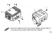 EXHAUST - HONDA GX120 QHQ4 MINIKART