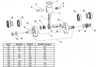 PISTON CRANKSHAFT - TM KZ10 KZ10B KZ10ES