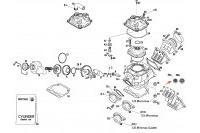 CYLINDRE - ROTAX 125 MAX-J125-MINI-MICRO