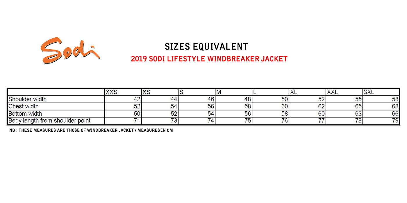 Sizes equivalent